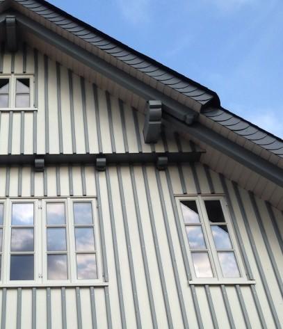 Wärmedämmung an Hausfassade