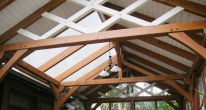 Satteldach aus der Innenansicht